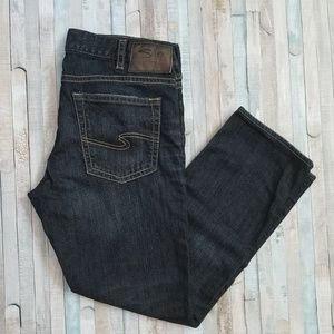 Silver Konrad Dark Wash Straight Jeans